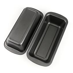 "Tosnail Long Non-stick Loaf Pan Set, 9"" x 3"" - Pack of 2"