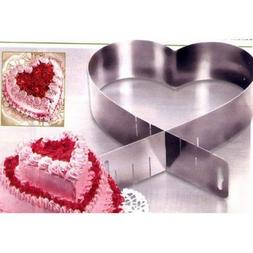 Adjustable Cake Pan Pastry Mould Mold Heart Square Shape Kit
