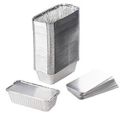 Aluminum Foil Pans - 100-Piece Loaf Pans With Lids, Deep Dis
