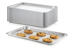 Pack of 15 Aluminum Square Baking Pans - Disposable Foil Coo
