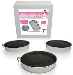 "Aunt Shannon's Easy Release 8"" Cake Pans - Set of 3 Quick"
