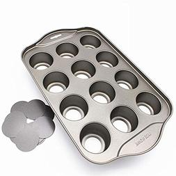 Bakeware Easy Clean Muffin Mini 12 Cup Cheesecake Round Carb