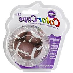 Wilton Standard Baking Cups, 36-Count, Football Color