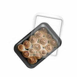 Baking Pan with Snap on Lid 9 x 13 Cakes Brownies Lasagna Tr