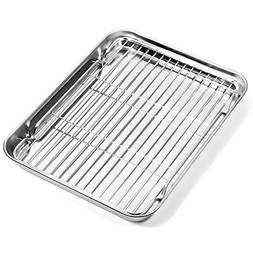 Baking sheets and Rack Set, Zacfton Cookie pan with Nonstick