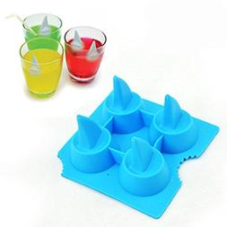 Bar Tools & Accessories - Silicone Shark Fin Ice Tray Cube F