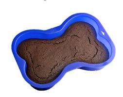 Blue Dog Bone Shaped Cake Pan Silicone for Puppy Birthday Pa
