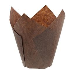 Brown Tulip Baking Cups-Cupcake and Muffin Liners -Pack of 5