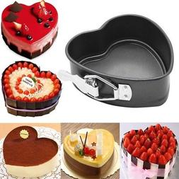 Heart-Shaped Cake Tin Non Stick Spring Form Loose Base Bakin
