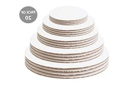 Cake Boards Circles Variety Pack - 6 Inch, 8 Inch, 10 Inch,