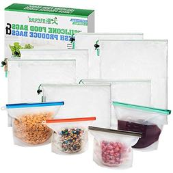 Reusable Silicone Food Bags  With Mesh Produce Bags  | Eco F