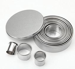 12 pieces Cake Pan Set Anodized Aluminum Round Non-stick Che