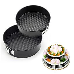 GANJOY 7 Inches & 9 Inches Cake Pan Set Leakproof Springform