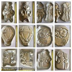 Wilton Cake Pans CHOOSE ONE: Holly Hobby Doll Doughboy Santa