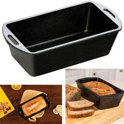 Cast Iron Loaf Pan Seasoned Cooking Bread Cake Meat Home Kit