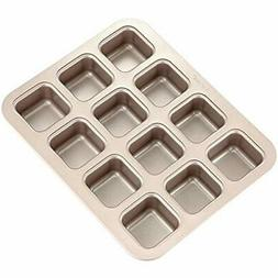 CHEFMADE Brownie Cake Pan, 12-Cavity Non-Stick 01 - 12-Cups