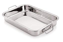 Stainless Steel Roast Pan with Folding Handles // CHEF DIREC