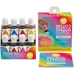 color right performance food coloring set 8