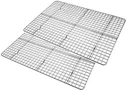 Checkered Chef Cooling Rack Baking Rack Twin Set. Stainless
