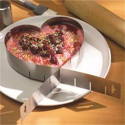 Cutter Ring Adjustable Heart Shape Baking Pan Stainless Mous