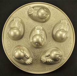 NORDIC WARE Detailed Chick Cakelet 6 Cakes Heavy Duty Bake C