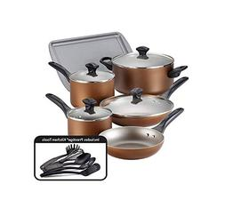 Farberware Dishwasher Safe Nonstick 15-Piece Cookware Set