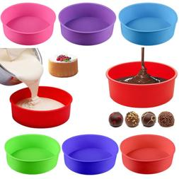 DIY Silicone Round Bread Mold Cake Pan Muffin Bakeware Mold
