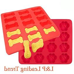 Charmed Dog Bone and paw print baking molds / ice tray