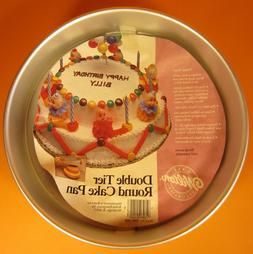 Wilton DOUBLE TIER ROUND cake pan 1986 bake a 6 inch 10 inch