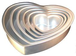 Fat Daddios Anodized Aluminum Heart Cake Pan 3-Inch Deep