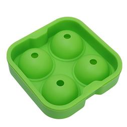 cici store Flexible Silicone Ice Ball Mold Ice Tray Making M