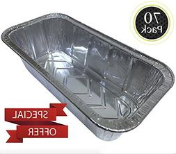 70 Pack 2LB - Loaf Pans - Bread Pans l Disposable Aluminum L