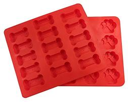 wellhouse Set of 2 Food Grade Silicone Baking Molds Dog Paws