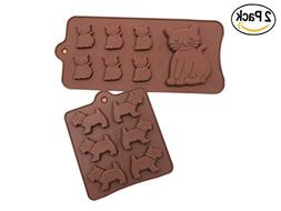 Food Grade Silicone Cake Moulds,ICASA Silicone Dog and Cat I