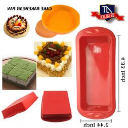 Food-Grade Silicone Loaf Square Bread Cake Candy Mold Baking