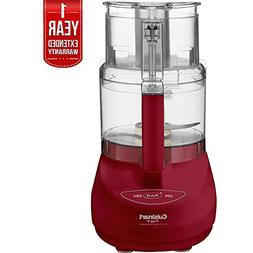 Cuisinart 9 Cup Food Processor Red  with 1 Year Extended War
