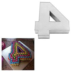 Large Number Four Birthday Wedding Anniversary Cake Tins / P