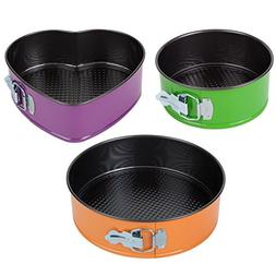 Trenton Gifts Set of 3 Springform Pans with 2 Round and 1 He