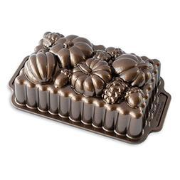 Nordic Ware 91648 Harvest Bounty Loaf Pan, One, Bronze