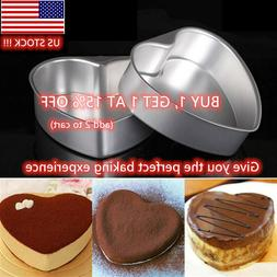 Heart Baking Mold Shaped Cake Pan Removable Bottom Anodized
