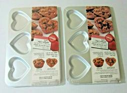 Wilton Heart Muffin Caps Cupcakes Lot of 2 New Pans Kitchen