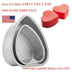 Heart Shaped Cake Pan Baking Mold Removable Bottom Anodized