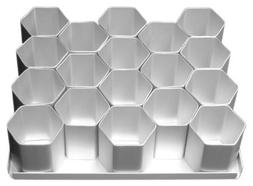 Hexagon Mini Cake Pan 2-1/2 Inches Set 15 Count by Alan Silv