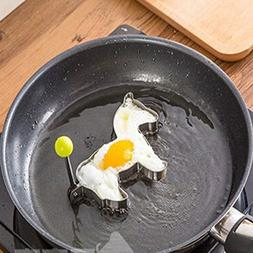 Honana Horse Shape Fried Egg Mold Stainless Steel Pan Cake E
