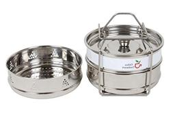 Chiboz Cookware 3 Qt Mini Stackable Steamer Insert Pans with