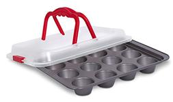 Internet's Best Cupcake Baking Pan with Lid and Handles |