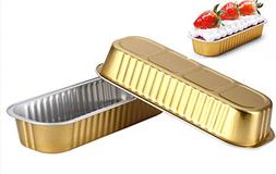 KEISEN 6 3/5in 2 3/5in Disposable Foil Cups 200ml for Muffin