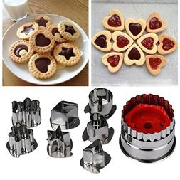 SanCanSn Kitchen Tools, Mix Shaped Biscuit Mold Sugar Craft