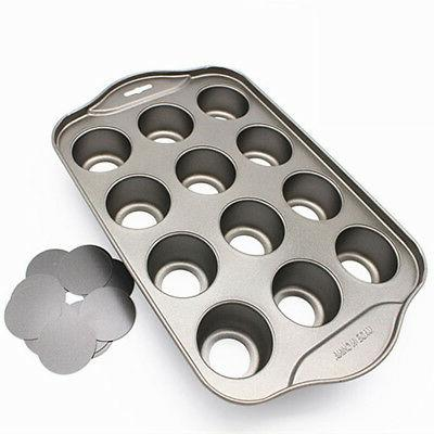12 Round Bakeware Mini Cheesecake Pan DIY Nonstick w/Removable