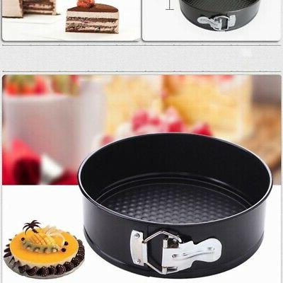 Non-Stick Baking Springform Round Cake Tin Tray Pan 7/8/9 In